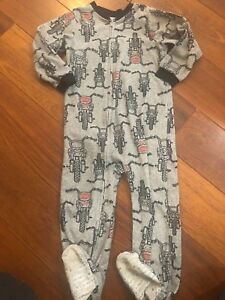 c3d2e442b1 Image is loading boys-CARTERS-FOOTED-SLEEPER-fleece-pajamas-WINTER-zipper-