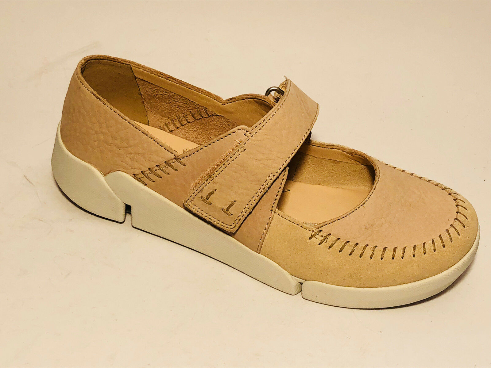Clarks Schuhe ultra leichte Leder sport Slipper Gr. 39 (6) lt.pink Ristriemchen