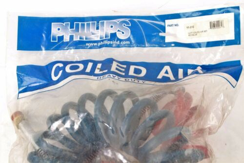 New 11-312 Phillips 12Ft Coiled Air Set Red//Blue