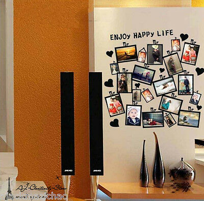 20pcs Picture photo Frame Wall stickers wall Decal Removable Vinyl Wall Quote Au