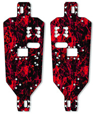 HPI MT2 Chassis Plate Protector Kit - Dark Red Flames - HPI Racing
