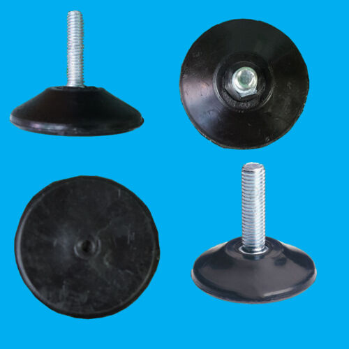 10x Adjustable Levelling Feet Foot 42mm x 25mm M6 Thread Desk Cabinet Cupboard