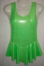 Vestito verde Sparkle Spandex. Tuta ginnastica. far girare, Ice Skate Taglia 12yrs