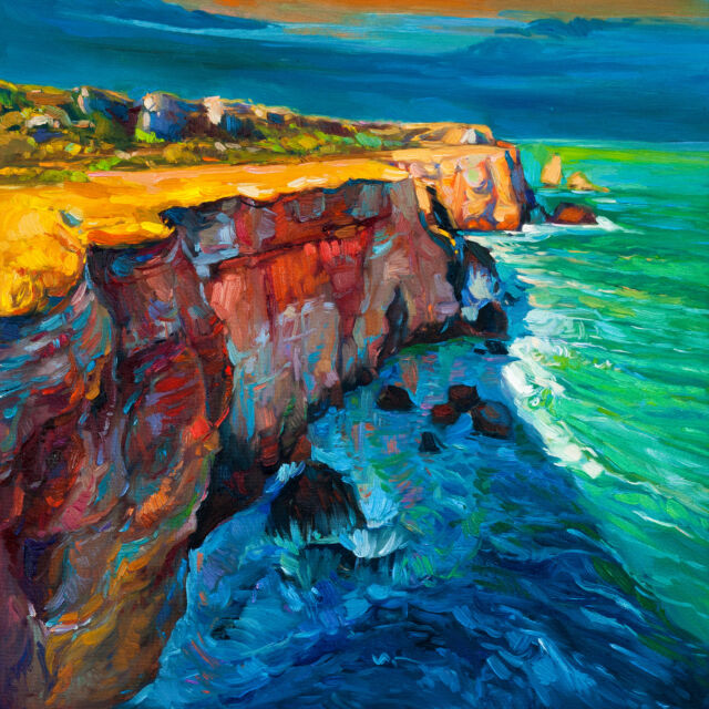Australian art print great ocean road victoria seascape ollie murrie 50cm
