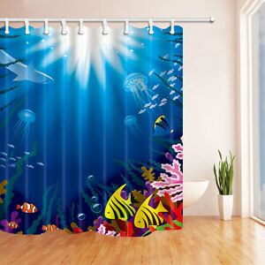 Image Is Loading Colorful Underwater C On A Reef Shower Curtain