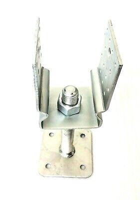 Pfostenträger 100x100 mm M24x200 höhenverstellbar Stützenfuss verzinkt U