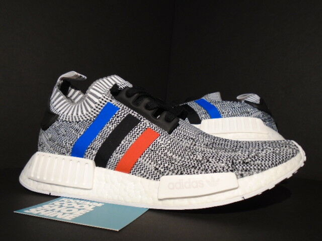 5fcfe4aaa9ece Men s adidas NMD R1 Primeknit Tricolor White Bb2888 Gray Glitch US Size 8.5  for sale online