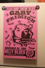 GARY PRIMICH San Antonio TX (1994) Concert Poster BLUES harmonica harp
