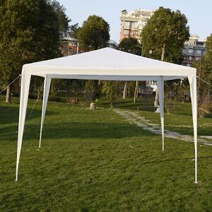 Tente pavillon chapiteau tonnelle de jardin 3x3m PEbarnum parfait blanche/bleu