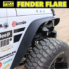FLAT TEXTURED STYLE FENDER FLARES STEEL FOR 07-17 JEEP WRANGLER JK