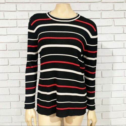 St. John Exclusively Multicolor Knit Stripe Top -