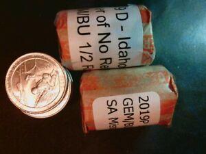 - 2019P San Antonio Mission Quarters 20 Uncirc Pristine PLs $5FV 1//2 Roll