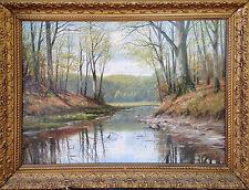 """Forest Pond"" oil on canvas, Danish artist Harald Wentzel"