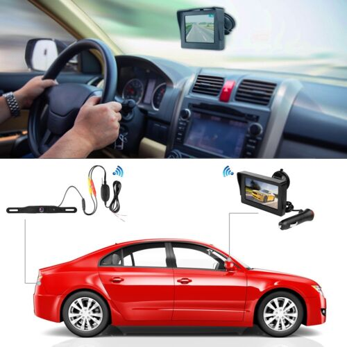 Rear View Camera Waterproof Wireless Backup Camera Monitor Kit License Plate