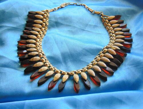 Unusual Vintage Coro Egyptian Revival Necklace