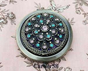 Vintage-Antique-Flower-Handbag-Compact-Mirror-LKYT