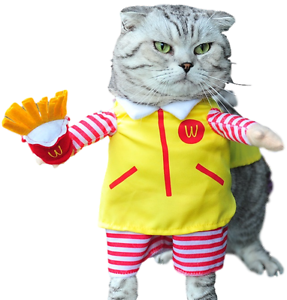 Pet Dog Cat Fast Food Halloween Show Party Fancy Dress Costume Outfit Clothes