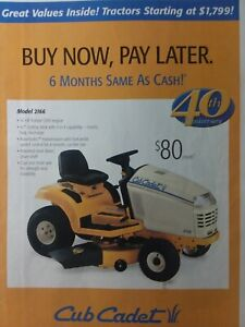 Details about Cub Cadet MTD 2001 40th 2206 2166 3240 Lawn Garden Tractor  Color Sales Brochure