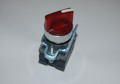 1PC 22mm Rojo Iluminado seleccionar Interruptor 2 posición mantenida se ajusta XB4BK124B5