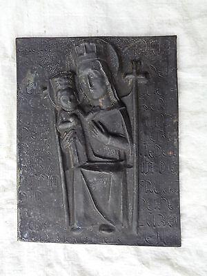 Alte Eisenplatte Gußplatte