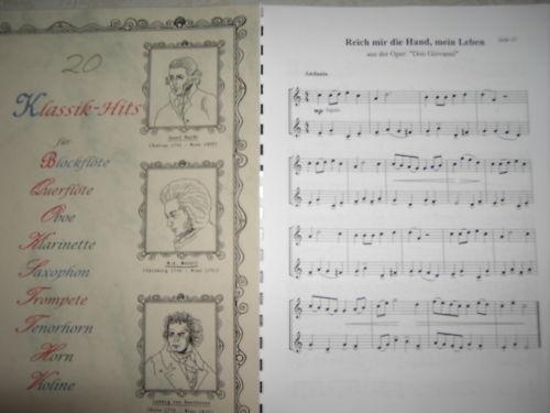 Noten - 20 Klassik-Hits für Horn - zweistimmig
