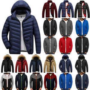 Mens Winter Bubble Padded Hooded Coat Jacket Puffer Warm Waterproof Outwear Tops