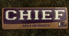 "Avila University Eagles Kansas City Missouri CHIEF Metal Sign 12"" x 4"""