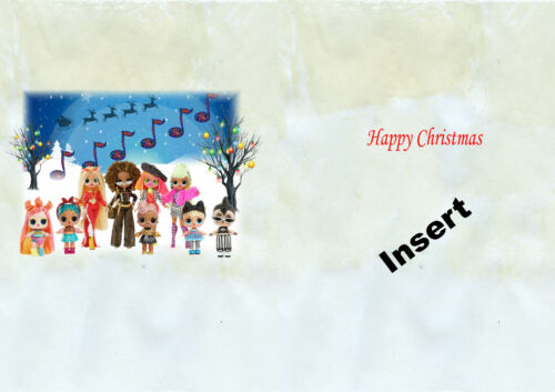 Personalised Christmas card lol dolls daughter granddaughter niece sister