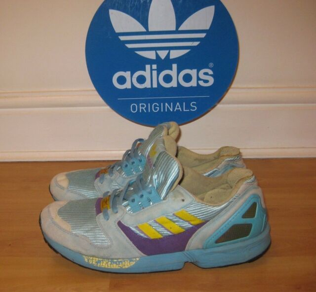 b728c6d09 Mens adidas ZX 8000c Aqua 087852 RARE Vintage 1998 Torsion Trainers Uk10  for sale online