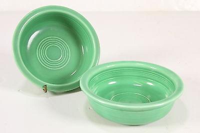 "Homer Laughlin Fiestaware Original FIESTA 5"" Vtg Nappy Fruit Oatmeal Bowls Green"