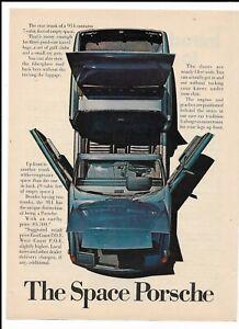 Blue 1971 Porsche 914 Print Ad ~ The Space Porsche