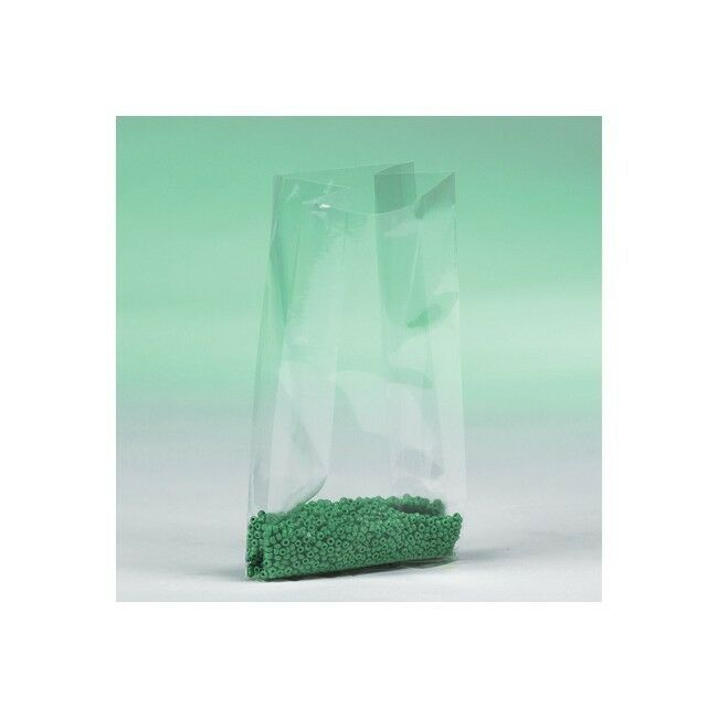 Gusseted 1 Mil Poly Bags, 9  x6  x18  , Clear, 1000 Case
