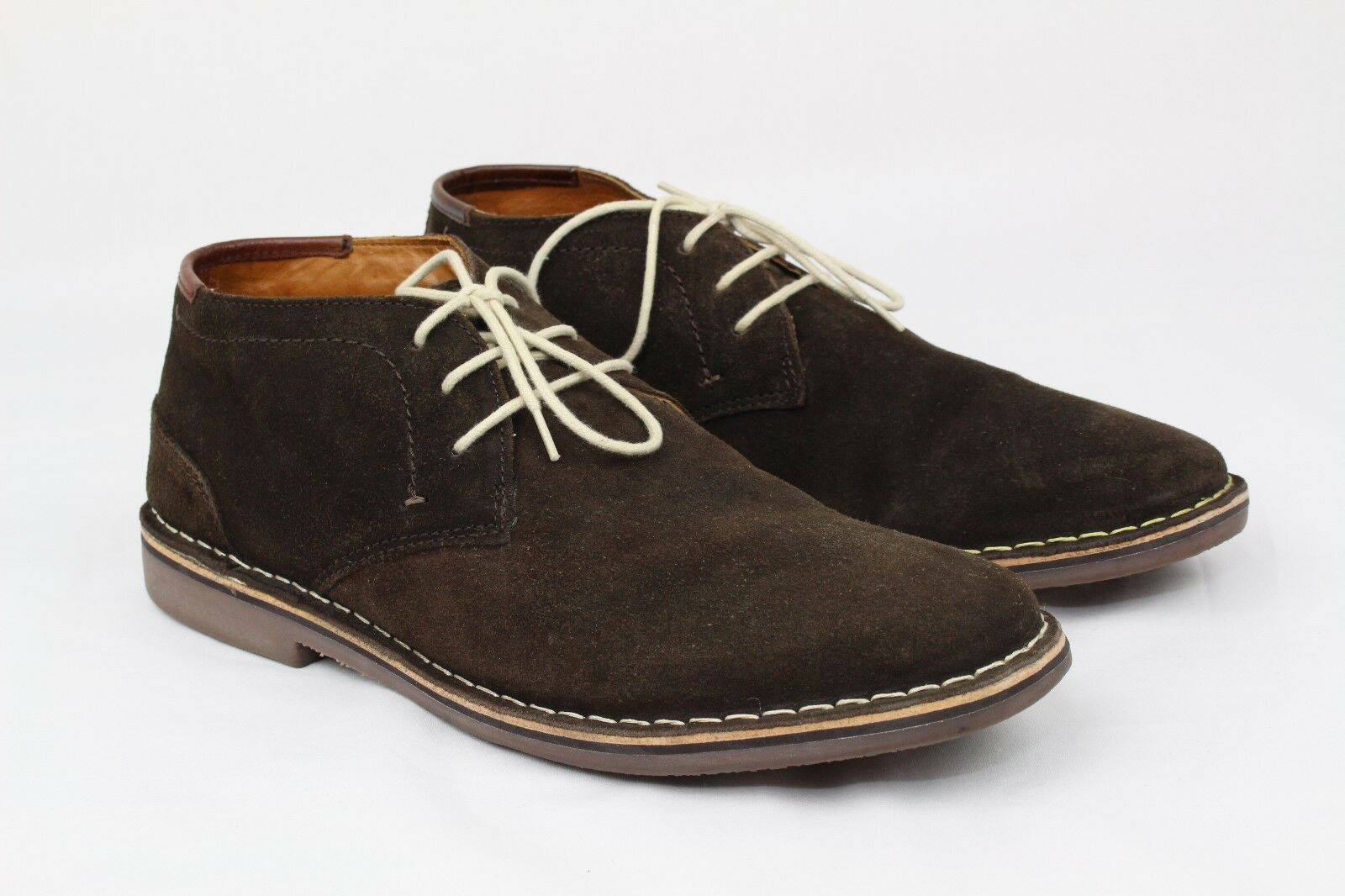Kenneth Cole Unlisted Men's Real Deal Shoes Suede Chocolate size12 made in India