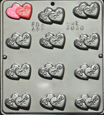 """/""""Love/"""" on Heart Chocolate Candy Mold Valentine  3064 NEW"""