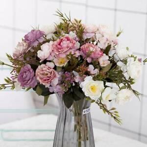 1bunch-Artificial-Rose-Bouquet-Silk-Fake-Flower-Wedding-Party-Home-Decoration-r