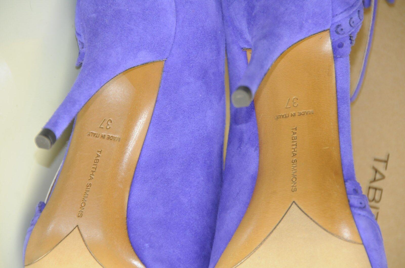 Nuovo Tabitha Simmons Viola Caviglia Iris Camoscio Smerlato Cinturino Alla Caviglia Viola d4e2b9