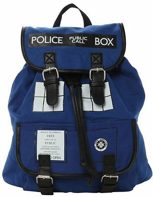 DOCTOR Who Tardis Buckle Slouch Bag Dr Who POLICE BOX Backpacks Shoulder Bags