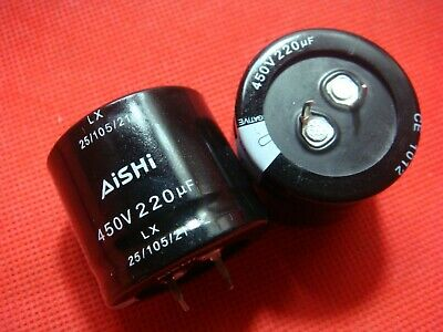 New 2pcs 30x30mm 220UF Metal Aluminum Electrolytic Capacitor Electronic Compo