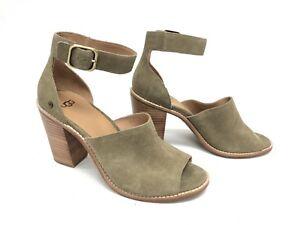 e31683a83de Details about UGG Australia Women's AJA Antilope 1020322 Casual Leather  Suede Buckle Heels ~