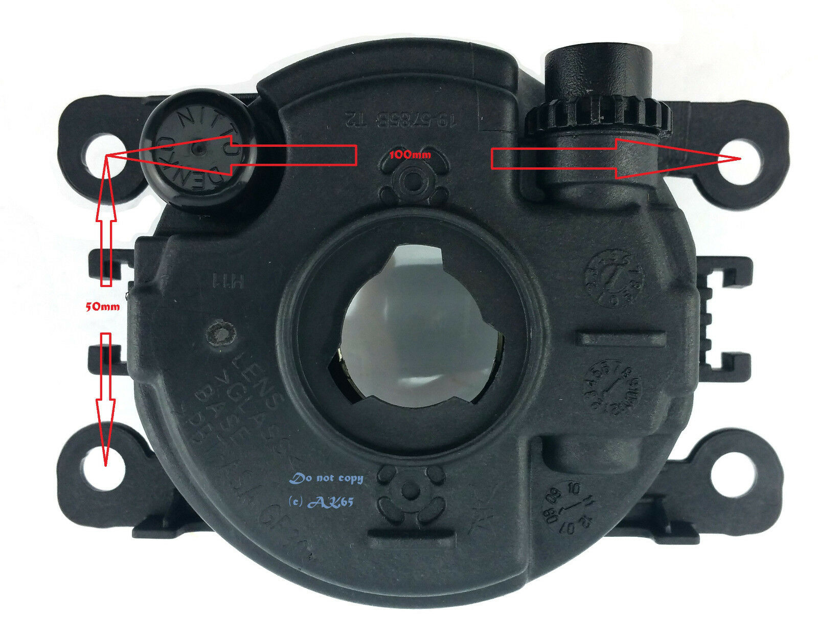 *NEW* FOG LIGHT LAMP 90mm with globe for NISSAN PATROL GU Y61 2005-2009 LH or RH