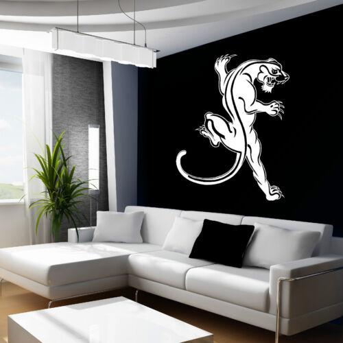 Animal sauvage PANTHÈRE NOIRE Mur Art Autocollant Decal themed room large