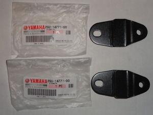 2 Yamaha YFZ 350 Banshee 350 Exhaust Muffler Pipe Brackets Hangers Stays Mounts