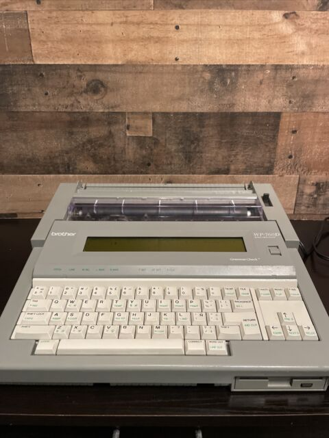 Brother WP-760D Portable Word Processor Electronic Typewriter w/ Cover Olympics