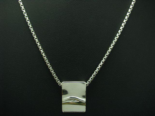 925 STERLING silver KETTE & ANHÄNGER   ECHTsilver   39,5cm   10,8g