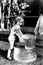 Shirley Temple 11x17 Mini Poster washing clothes in bucket