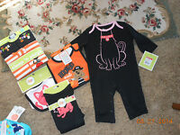 W/tags Cute Lot Of Halloween 3-6 Month Baby Clothes Includes 2 Bibs