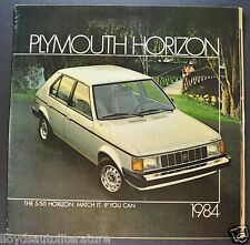 1984 Plymouth Horizon Catalog Sales Brochure SE Excellent Original 84