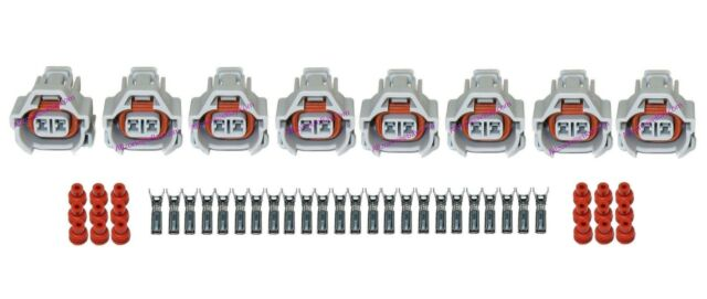 8 Nippon Denso Fuel Injector Connectors With Terminals And