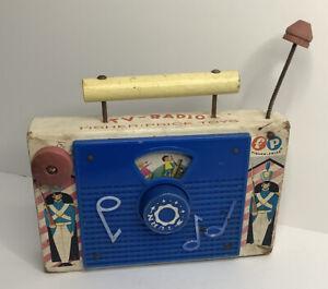 Vintage Fisher Price Jack And Jill Tv Radio