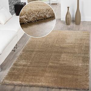 Teppich Wohnzimmer Hochflor Teppiche Modern Elegant Weich Schimmer ...
